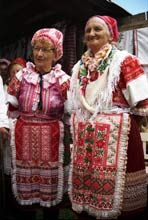 Traditional dress at Zavadka, a village near Dubodiel