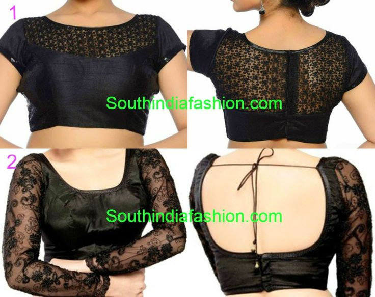 10 Stylish Readymade Black Sari Blouses ~ Celebrity Sarees, Designer Sarees, Bridal Sarees, Latest Blouse Designs 2014