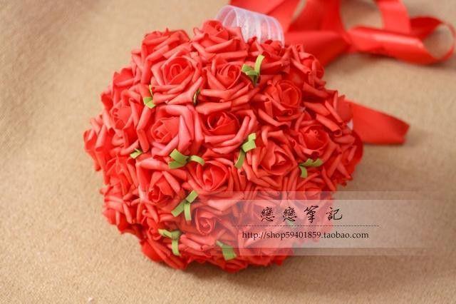 Elegant High Quanlity Beauty Rose Wedding Bouquets 2016 Bridal Bouquets buque de noiva Simulation Flowers