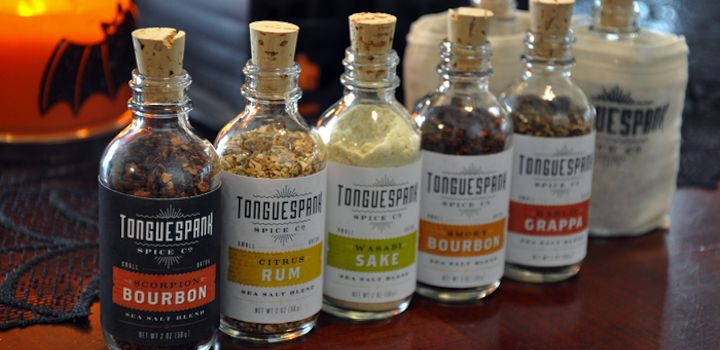 Tonguespank Spice Company mixes combine heat and booze.