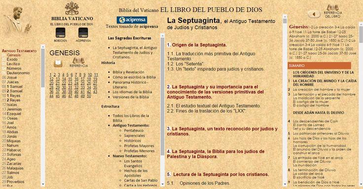 OÍR LA BIBLIA Católica [REFERENCIA BÍBLICA-ACIPRENSA] ONLINE con EL Vaticano VaticanONLINE desde WWW.CATHOLIC.CF