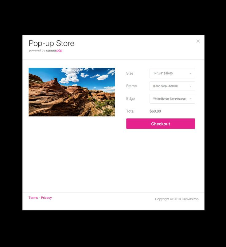 CanvasPop Print API - allows easy canvas printing with CanvasPop.  It is awesome!  You should take a look!