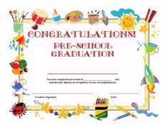 The 25 best graduation certificate template ideas on pinterest preschool graduation certificate template free yadclub Image collections