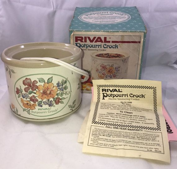 Vintage Rival Potpourri Crock Electric by OldCrowsTreasures247