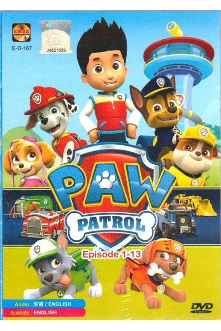 PAW Patrol Episode 1-13 - Canadian Animated Children Cartoon TV Series DVD