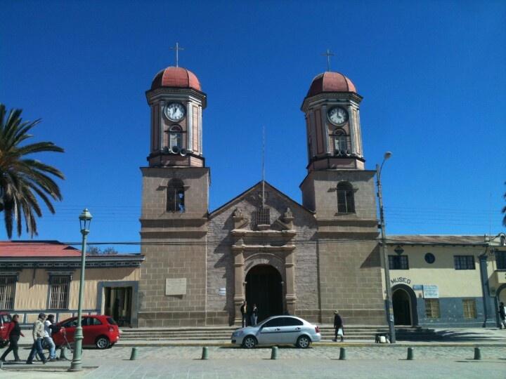 Iglesia antigua Andacollo, Chile