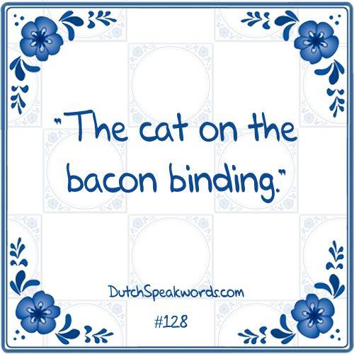 Dutch expressions in English:  de kat op het spek binden