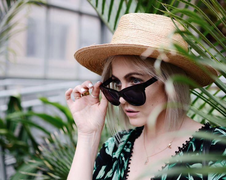 palm print leaf tropical summer sunglasses eyewear prescription sunnies clearly Tilley hats