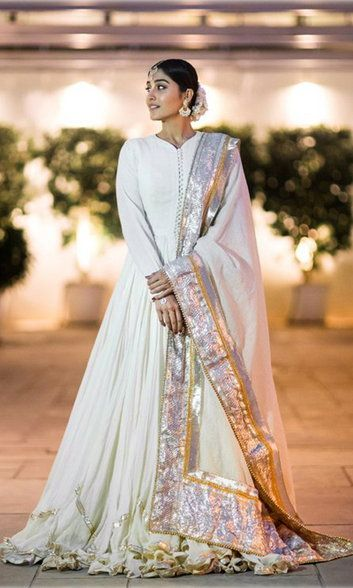Check out her Anarkali dress!. Read more http://fashionpro.me/regina-cassandra-looks-regal-white-anarkali-dress