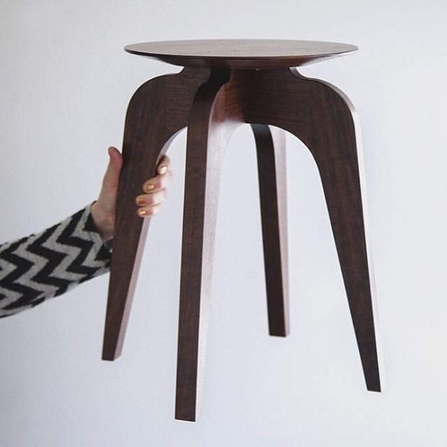 My first stool made of walnut. Designed it and built it. So much fun! #woodworking #form #design #stool #walnut #swedishdesign #nordicdesign #furniture #interiordesign #inredning #handmade #hantverk #snickeri #möbelsnickeri #möbelhantverk #furnituremaking