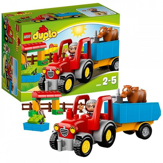 Купить Конструктор Lego Duplo 10524 Лего Дупло Сельскохозяйственный трактор купить в интернет-магазине Toy.ru