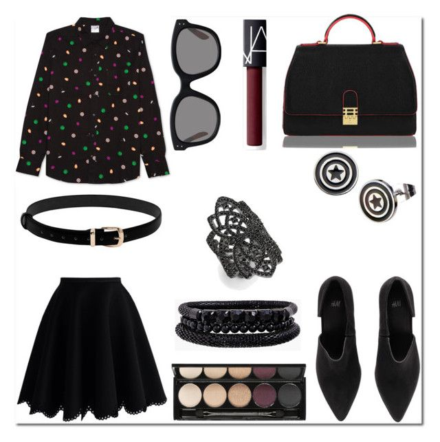 Marvel Merch Fashion: Button Down by thoughts-of-a-dreamer on Polyvore featuring Chicwish, H&M, Florian London, Spring Street, Noir, Marvel, JEM, Witchery and NARS Cosmetics