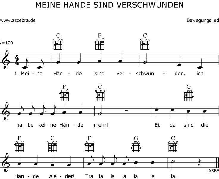 Druckansicht: Meine Hände sind verschwunden – Liederbaum, Kinderlieder und Sing… – Ma Reike