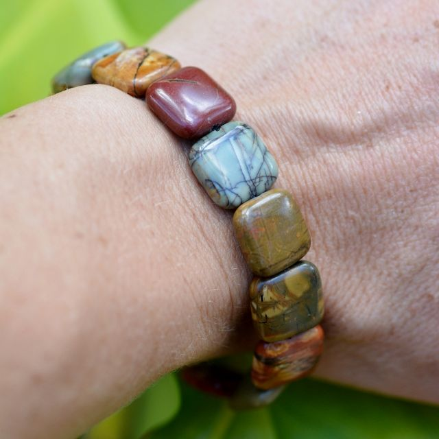 The beautiful Orche Ornate Bracelet, truly one of kind, custom made. Jasper, 100% Sterling Silver. Shop Now.