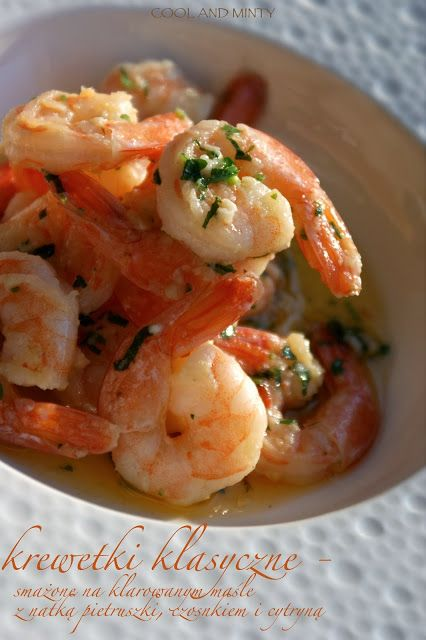 classic shrimp from the pan/ with garlic, parsley and white wine
