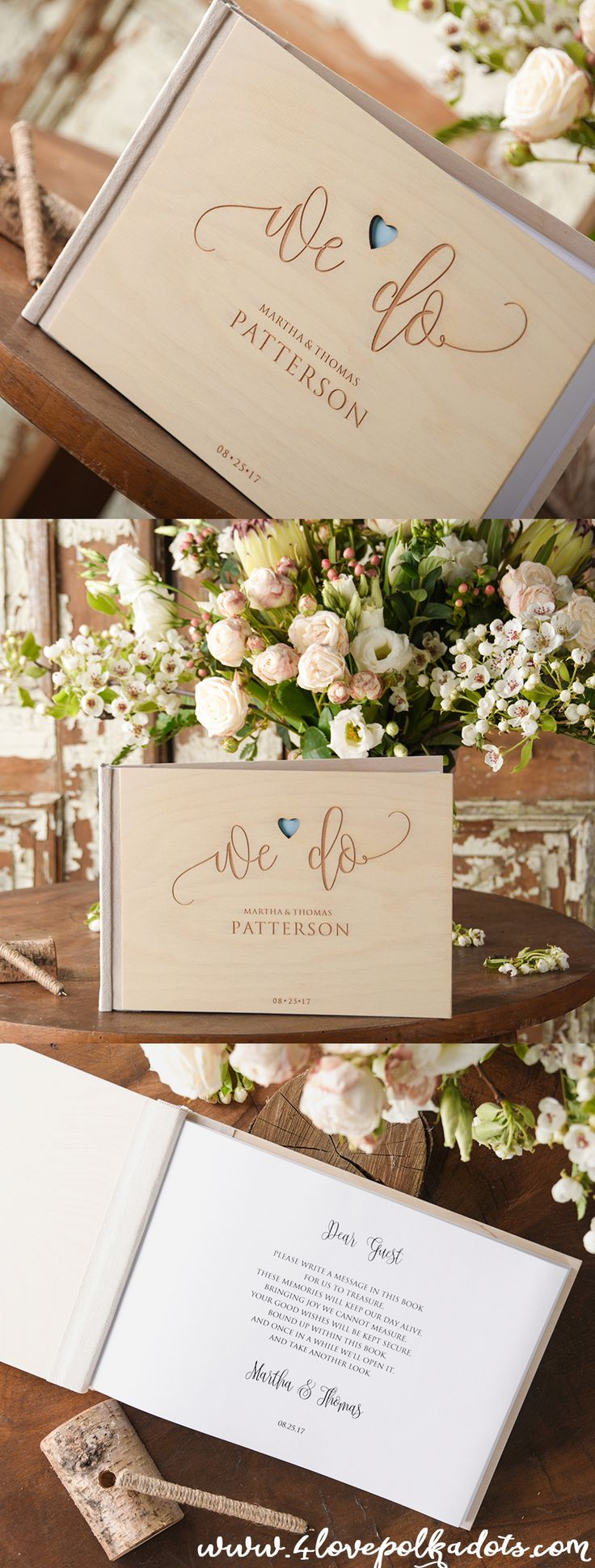 Boho Wedding Guest Book  #weddigguestbook