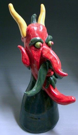 """48"""" Chiles los Diablos - pottery"""