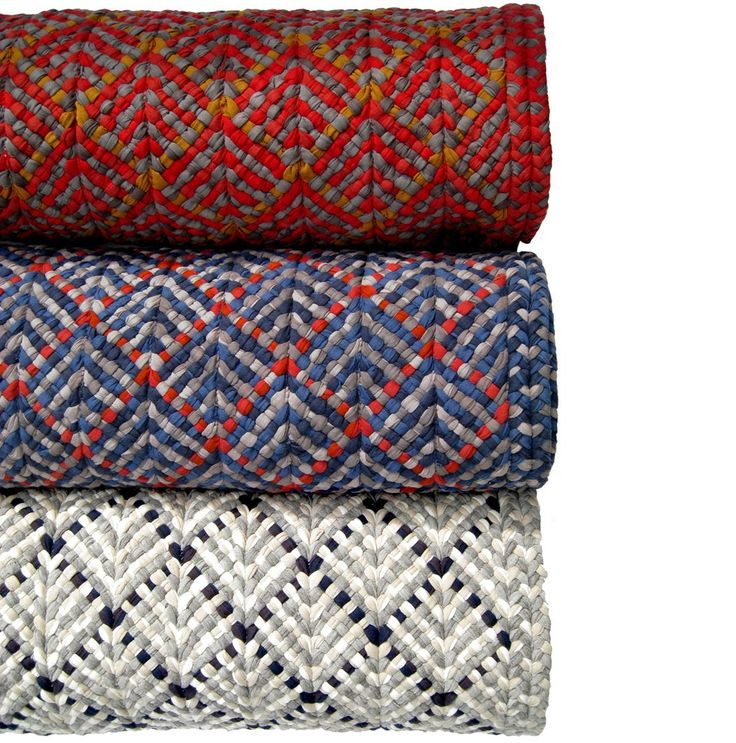 Re Rag Rug: vår senaste matta SPICE Rugs made from braided t-shirts