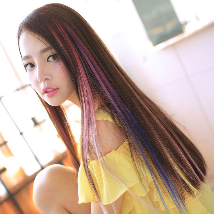 розовые пряди на темных волосах фото: 21 тыс изображений найдено в Яндекс.Картинках