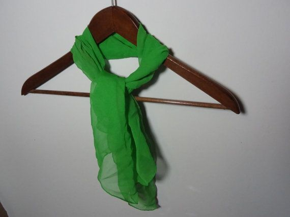 Vintage Women's Retro Green Sheer Chiffon by DaysLongGoneSalvage