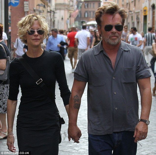 They're back for another visit to Rome! Meg Ryan and John Mellencamp stroll the Eternal City in June 2013.