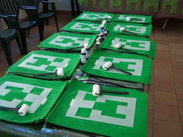 Let your guests DIY their swag. | 31 DIY Birthday Party Ideas That Will Blow Your Minecraft