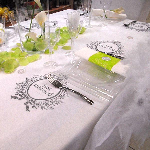 Table de mariage just married facile à réaliser