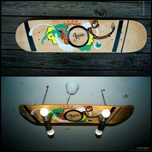 Custom skateboard lamp shade