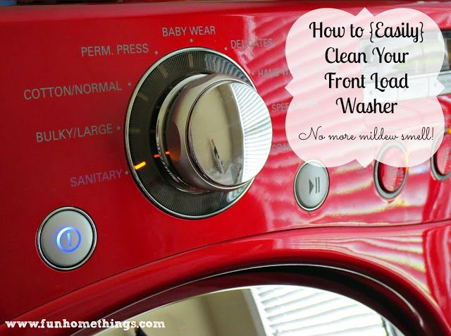 How to get rid of the mildew smell in your front load washer. So easy!! #tips #cleaning