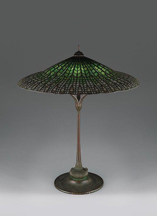 """Lotus, Pagoda"" lamp  Tiffany Studios (1902–32)  Date: ca. 1900–15: Art Glass Lamps, Tiffany Lamps, Gorgeous Tiffany Lotus, Lamps Etc, Tiffany Studios Lotus, Lamps Table Floor Wall, Antique, Studios 1902 32"