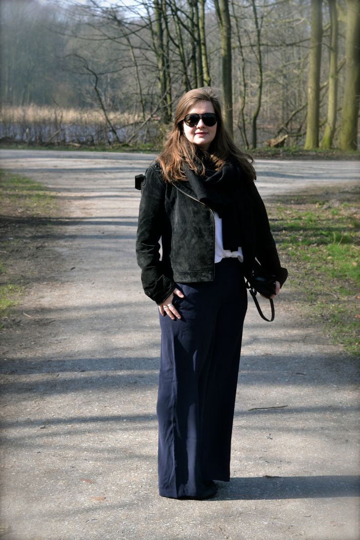 Transferal outfit for spring black and blue my favourite combo fashion