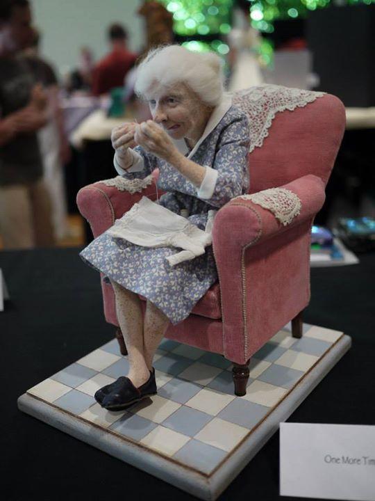 Absolutely Fabulous ! Needle Felted Granny !