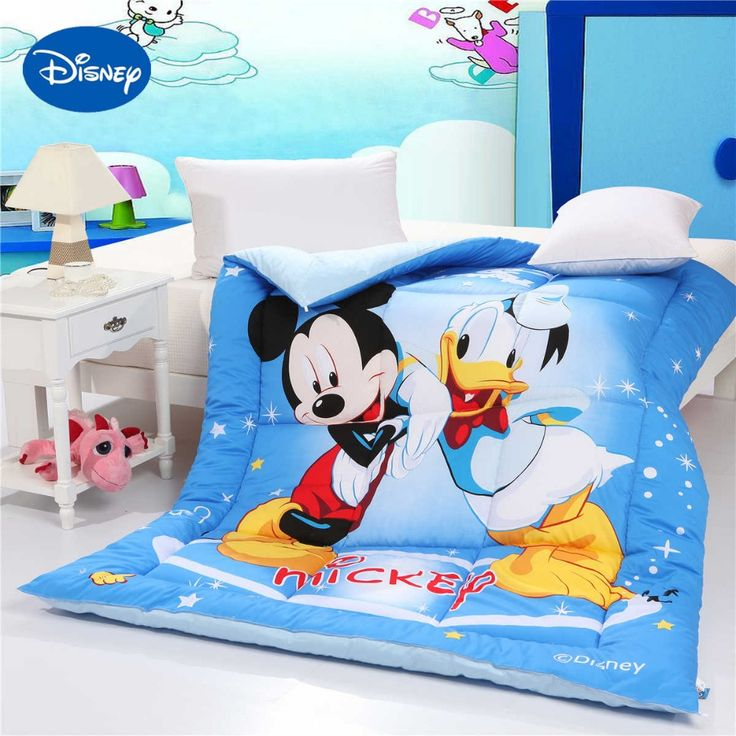 >> Click to Buy << Mickey Mouse Donald Duck Comforters Single Twin Queen Size Boys Kids Quilted Cotton Fabric Autumn Winter Blue Cartoon Character #Affiliate
