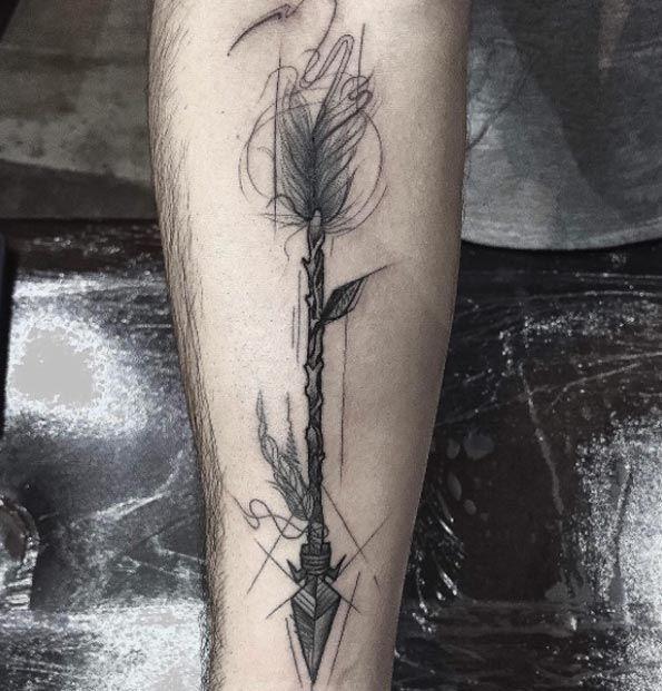 Artistic Arrow Tattoo by Frank Carrilho