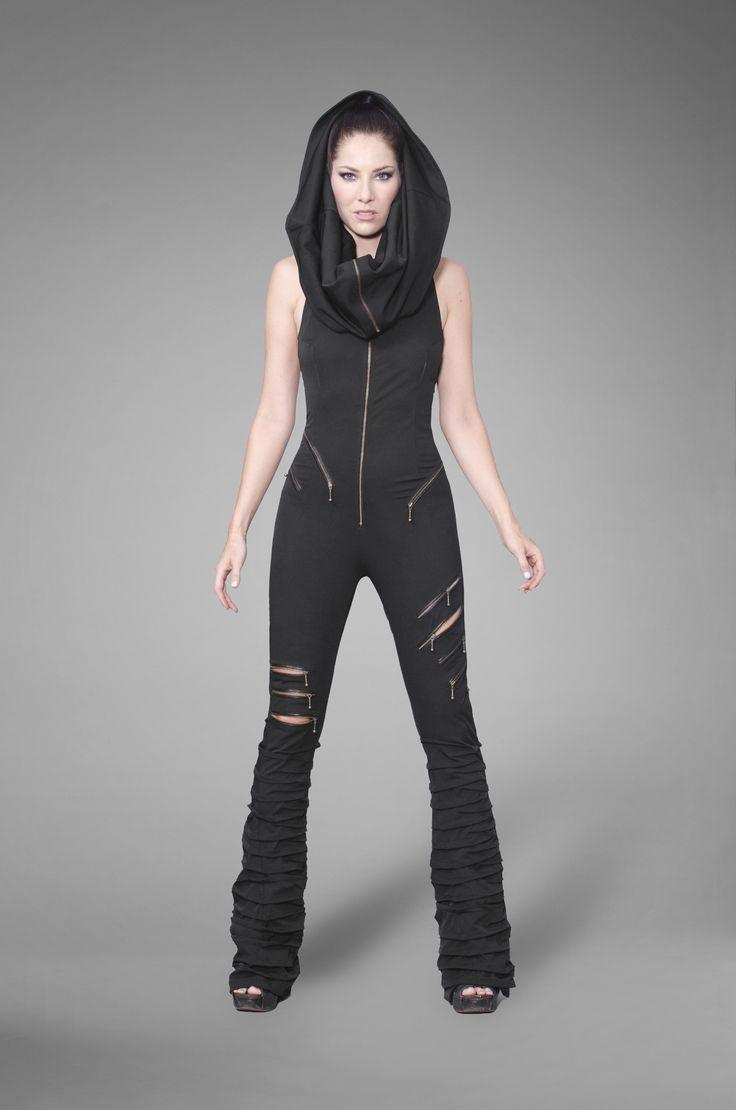Black Zipper Catsuit Jumpsuit @ Gelareh Designs $600 ...