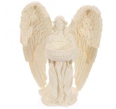 Kneeling Angel Figurine Tealight Holder