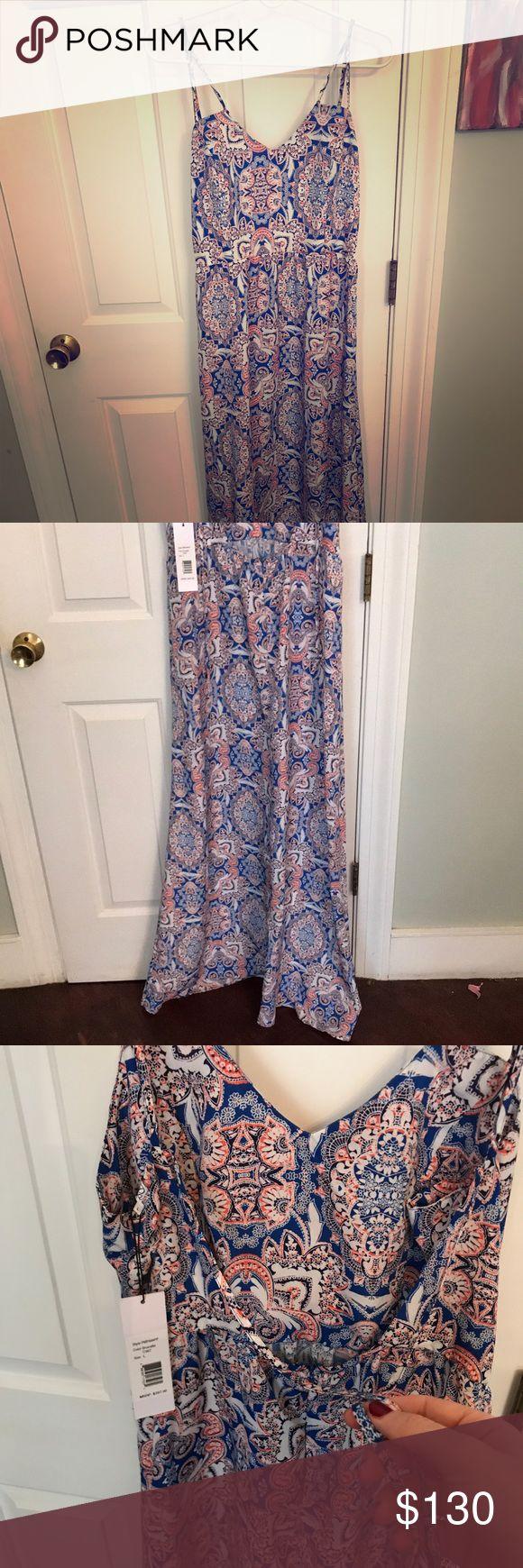 Parker patterned Maxi Dress never worn A beautiful silky maxi dress by Parker NY, never worn. Size large, slightly long. Parker Dresses Maxi