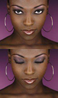 maquillage yeux noirs peau noire