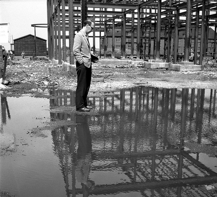 Philip Larkin in Hull - during the library build. http://www2.hull.ac.uk/news-and-events-1/news-archive/2015newsarchive/december/philip-larkins-photographs.aspx