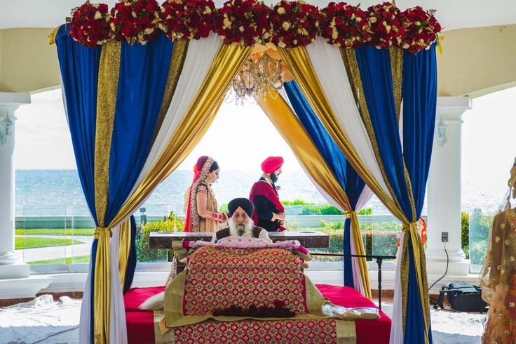 Preet Kala and Aman flew their priest in from Toronto for a joyous family celebration at Moon Palace Cancun #destinationwedding
