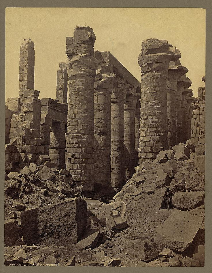 1856-1860 - At Great Hall. Carnac | Photographer: Frith, Francis,