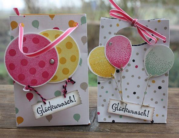 Luftballon-Vergleich, Punchboard für Geschenktüten, SU, Verpackung