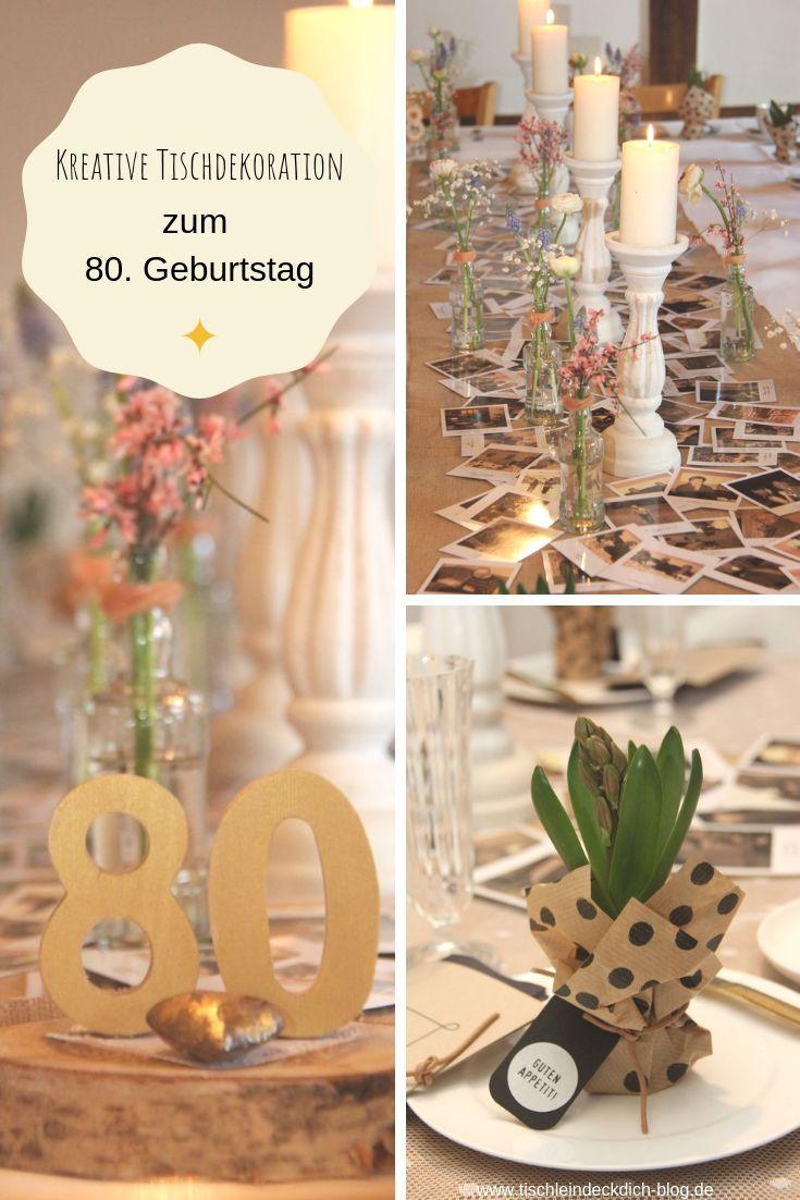 Sendmoments Und Die Perfekte Tischdekoration Zum 80 Geburtstag