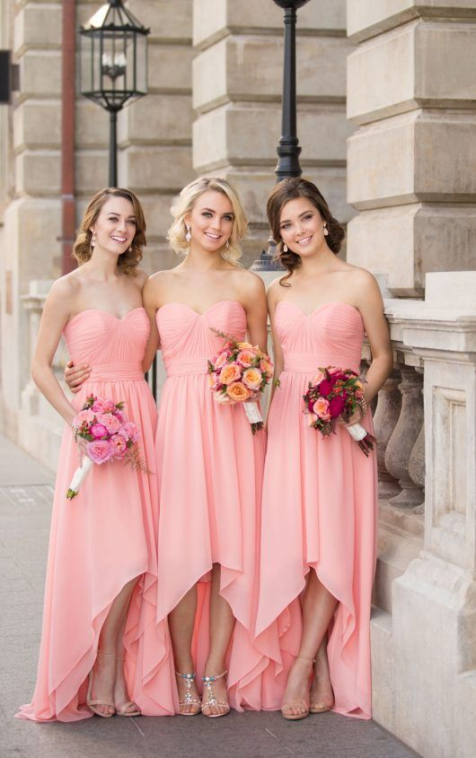 Chiffon High Low Bridesmaid Dress  7047c364f9f0