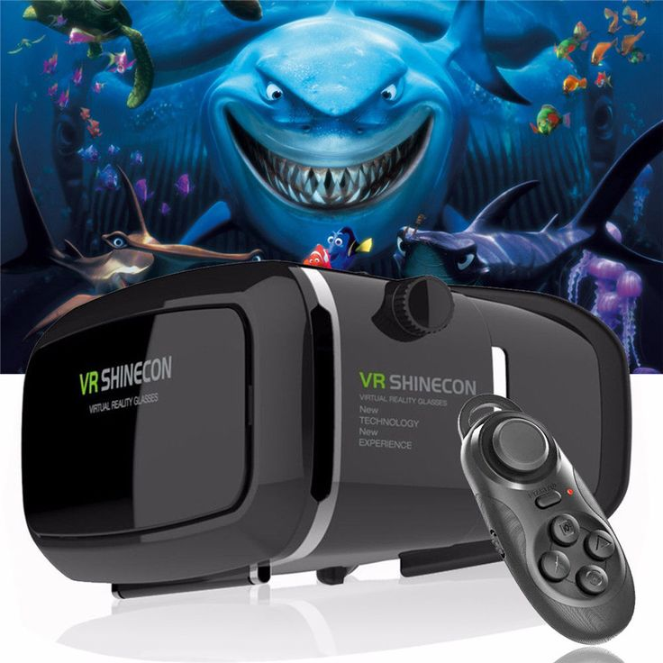 3D Virtual Reality RL VR Movie Game Glasses For Samsung iPhone+ Mini Controller #UnbrandedGeneric