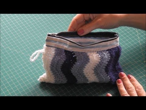 how to add lining to a crochet bag