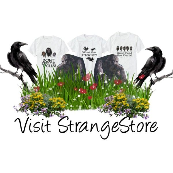 Take a look at StrangeStore Zazzle Store. 3 T-Shirt from StrangeStore Zazzle Store by ziernor on Polyvore featuring art
