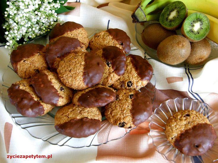 owsiane z czekoladą i kokosem