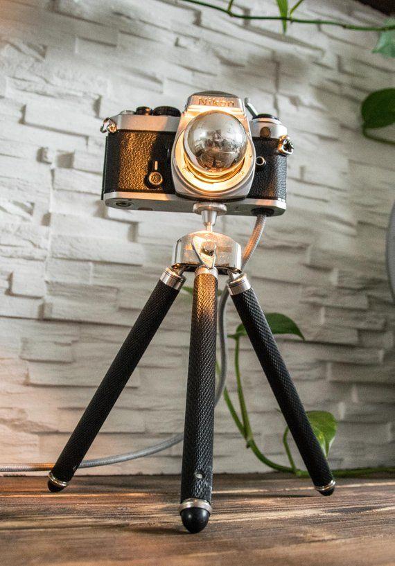 Nikon Kameralampe Dimmbar Etsy Camera Lamp Lamp Vintage Cameras
