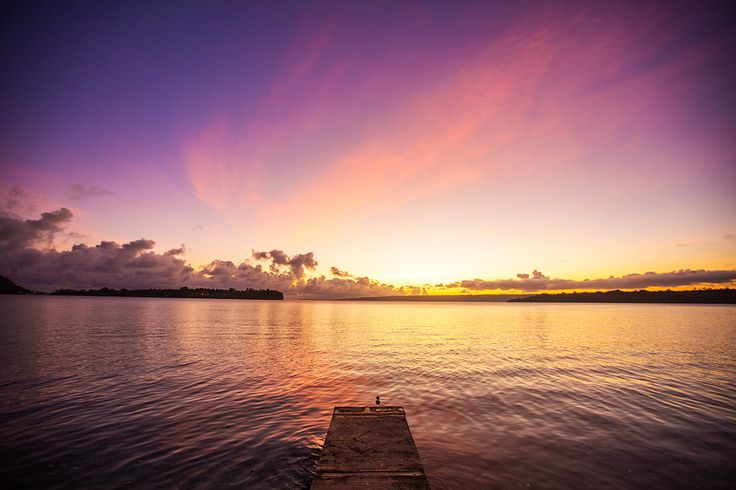 Snorkeler's Cove on Iririki Island Resort Vanuatu is the best place to catch a tropical sunset.